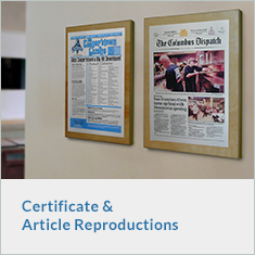 Certificate and Article Reproduction