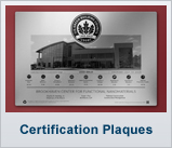 Certification Plaques
